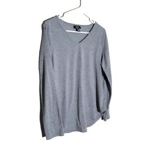 Jones New York Gray Longsleeve W/Silver Lines